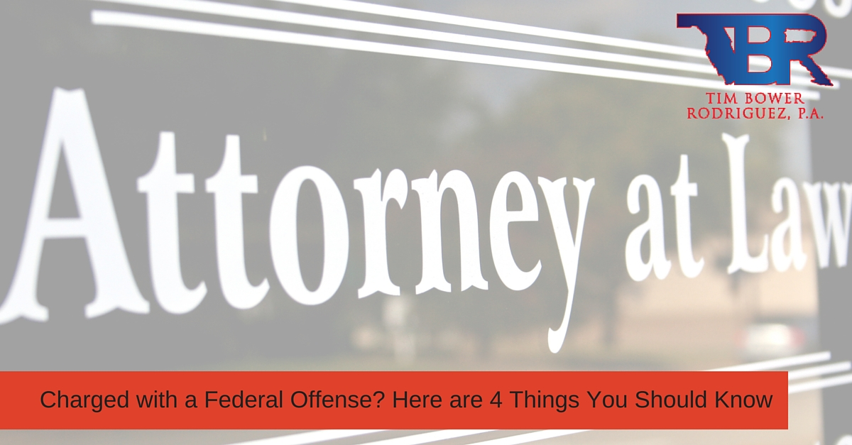 Charged with a Federal Offense? Here are 4 Things You Should Know